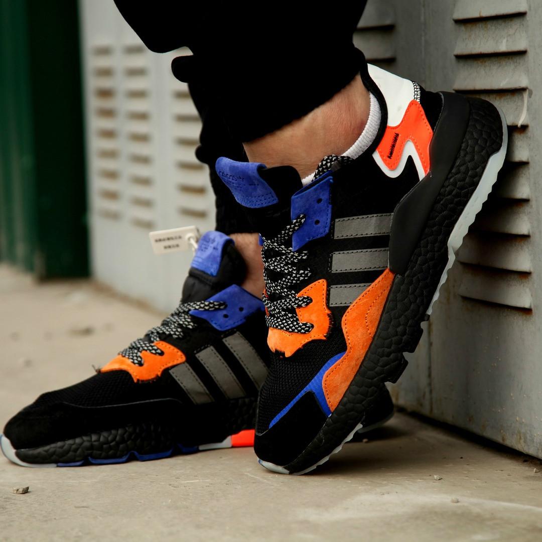 Мужские кроссовки Adidas Nite Jogger 2019 Black Orange