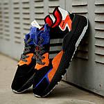 Мужские кроссовки Adidas Nite Jogger 2019 Black Orange, фото 3