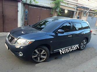 Дефлекторы окон (ветровики) Ниссан Патфайндер 4 (Nissan Pathfinder  IV) с 2014 г