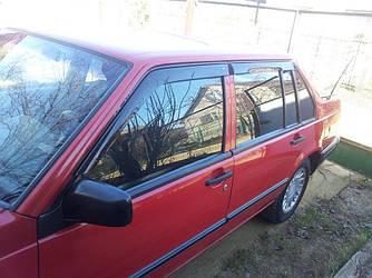 Дефлекторы окон (ветровики) Вольво 740 (Volvo 740) 1984-1992 г (седан/комби)