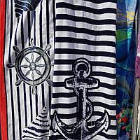 Пляжное полотенце якорьные и другие 1.40×70