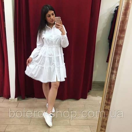 Женское платье летнее Италия белое хлопковое, фото 2