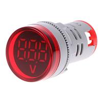 Цифровой вольтметр AC 60-500 В красный дисплей, фото 1