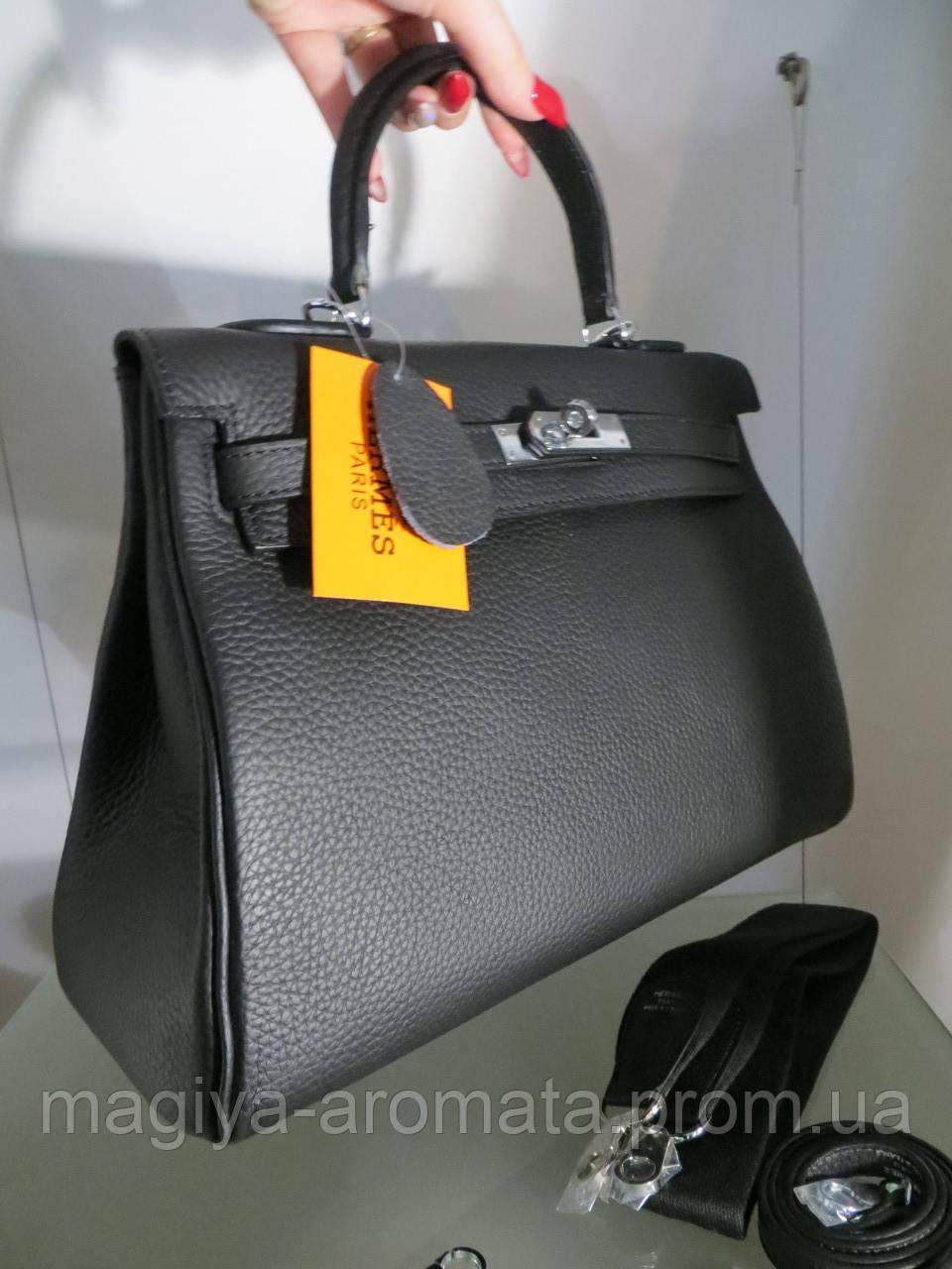4ca9115e4e3c РУЧНАЯ РАБОТА. КОЖА ТОГО. Женская сумка Hermes Kelly 28 черная ...