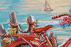 Набор-миди для вышивки бисером У края лазури (20 х 20 см) Абрис Арт AMB-014, фото 5