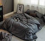 """Комплект двуспальный постельного белья ТМ """"Ловец снов"""", Графит, фото 2"""