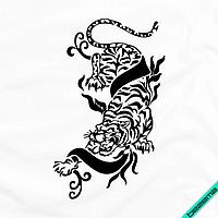 Декор на комбинезоны Тигр [Свой размер и материалы в ассортименте]