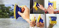 Двусторонняя магнитная щетка для мытья окон Glass Wiper | Магнитный скребок для стекол