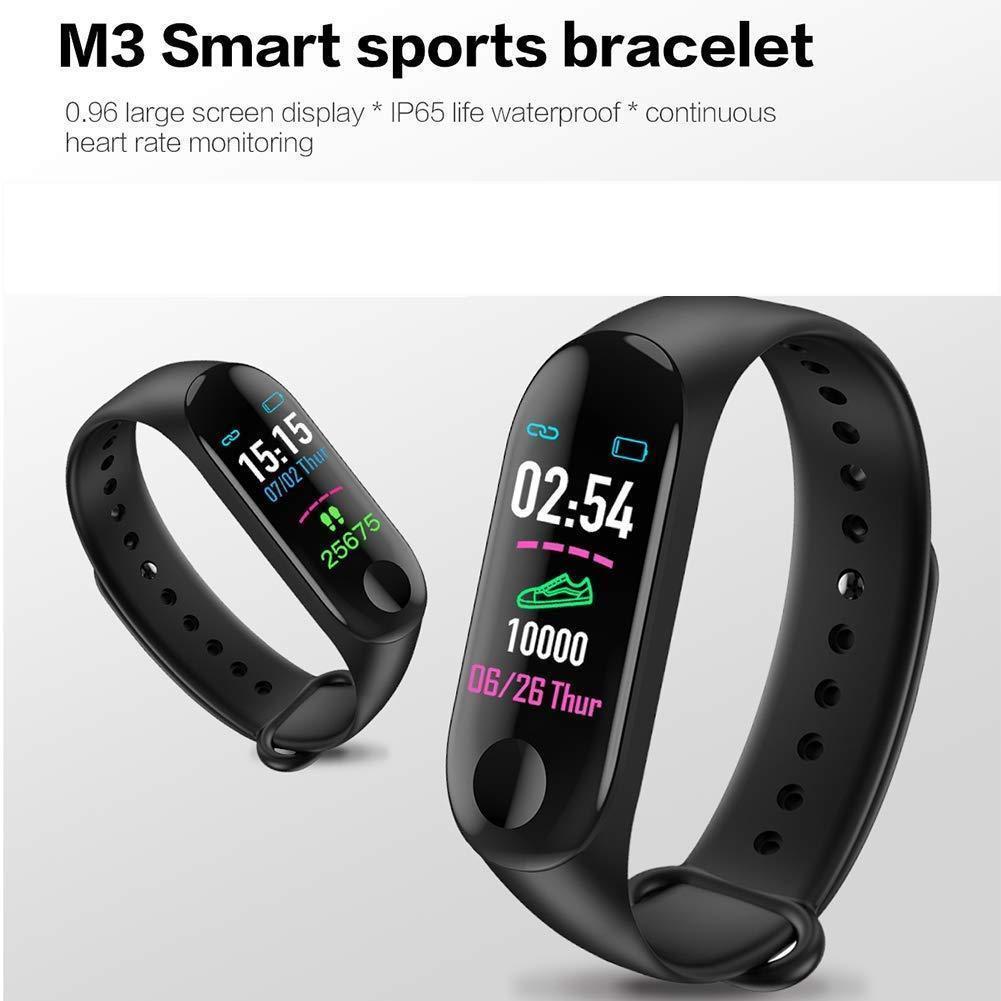 Фитнес браслет Smart Band M3 черный. Давление, трекер сердечного ритма, пульс. Фитнес трекер. Шагомер. Часы.