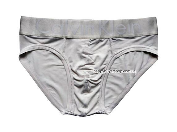 Мужские трусы слипы Calvih Kleih серии Steel модал белые (реплика) размер L, фото 2