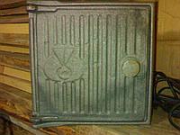Дверка чугунная топочная в печь 220*220 мм (вес - 5 кг)
