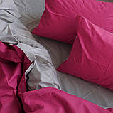 """Комплект евро постельного белья ТМ """"Ловец снов"""", Однотонный малиновый, фото 5"""