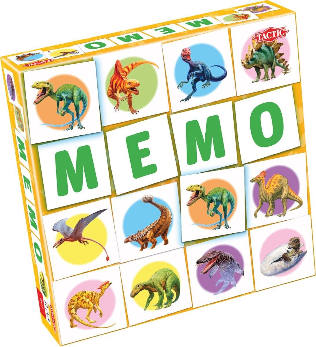 Настольная игра Tactic Мемо. Динозавры (55802)