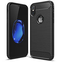 Чехол Carbon для Iphone XS бампер оригинальный Black