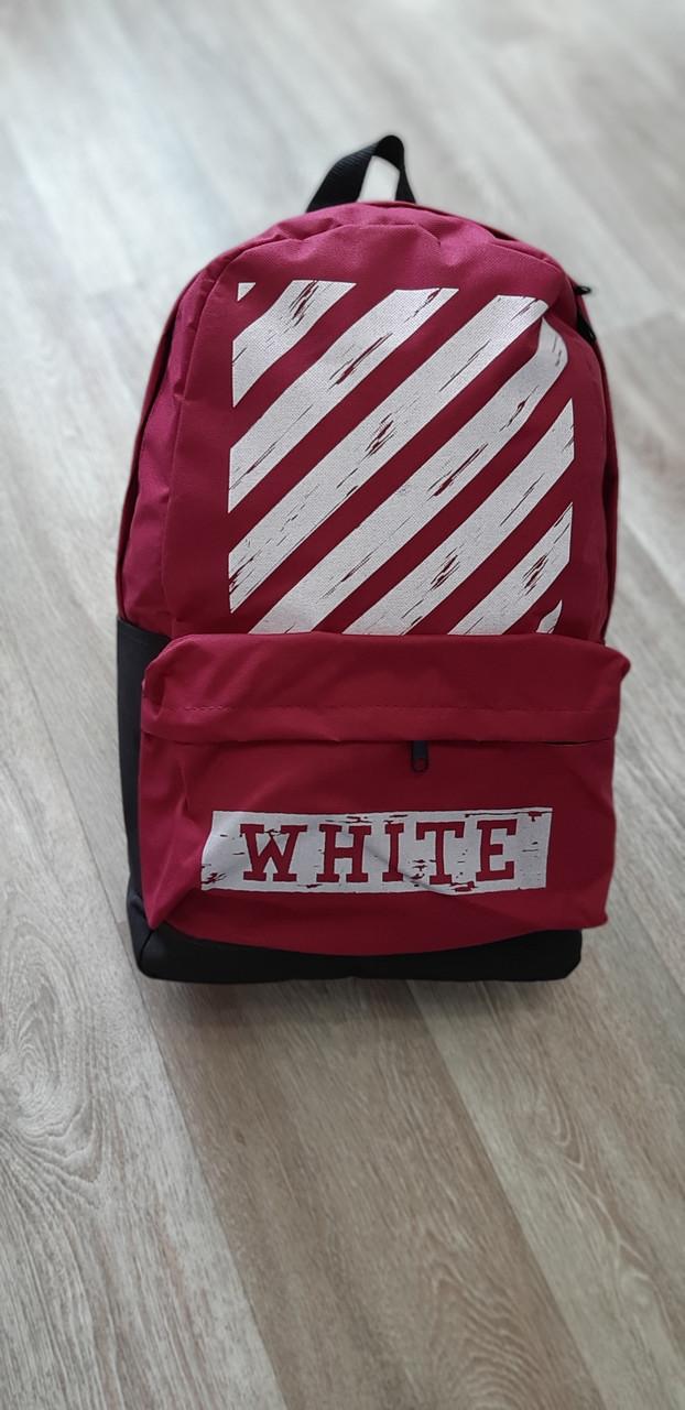 e5e48d95fbf0 Рюкзак городской / спортивный мужской и женский в стиле Off White Red -  Интернет-магазин