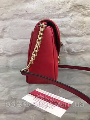 Женская сумка Michael Kors Италия красная, фото 2