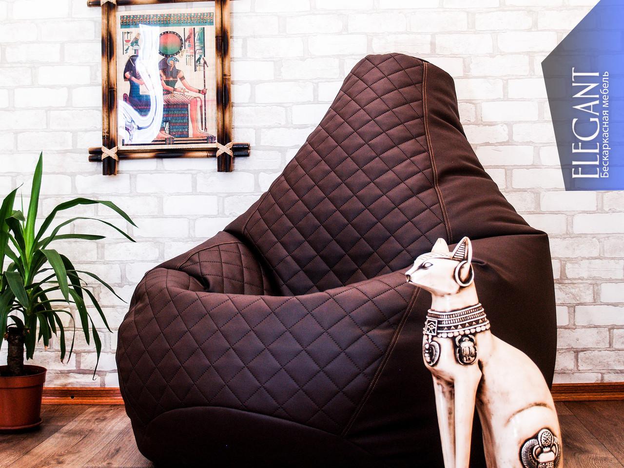 Кресло  Мешок  (Груша) Пуф  из экокожи Мадрит( Польша)