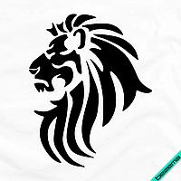 Термопереводки на кашемір Лев Лев [Свій розмір і матеріали в асортименті], фото 1
