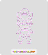 Трафарет + форма Кукла Лол №5