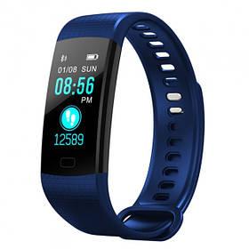Умный фитнес браслет Smart Band Y5 с тонометром dark blue