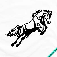 Аплпикации, латки на халаты Лошадь [Свой размер и материалы в ассортименте], фото 1