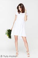 Платье для беременных и кормящих AMY DR-29.072, ажурное белое, фото 1
