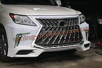 Комплект рестайлинга в стиле с 2018года (Бампер в сборе с противотуманками) для Lexus LX570  2008- 2012год