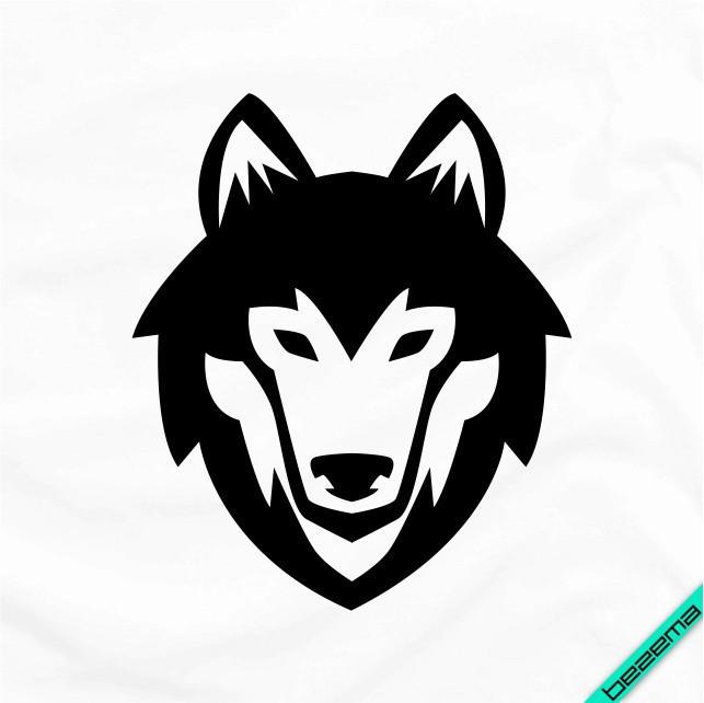 Наклейки на банданы Волк [Свой размер и материалы в ассортименте]