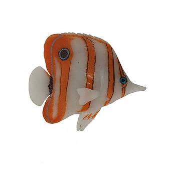 Декор для аквариума флуоресцентная рыбка Copperdand butterflyfish 9,5 см