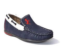 Мокасины, туфли Kellaifeng 27-32р. тёмно синие