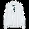 Женская хлопковая белая рубашка 44-48, фото 5