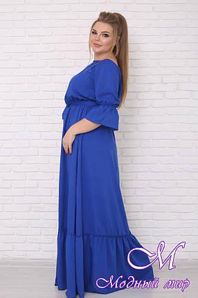Нарядное летнее платье больших размеров (р. 42-90) арт. Душенька, фото 2