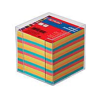 Бумага для заметок Herlitz цветная 90х90мм 650 листов 80г в прозрачном боксе