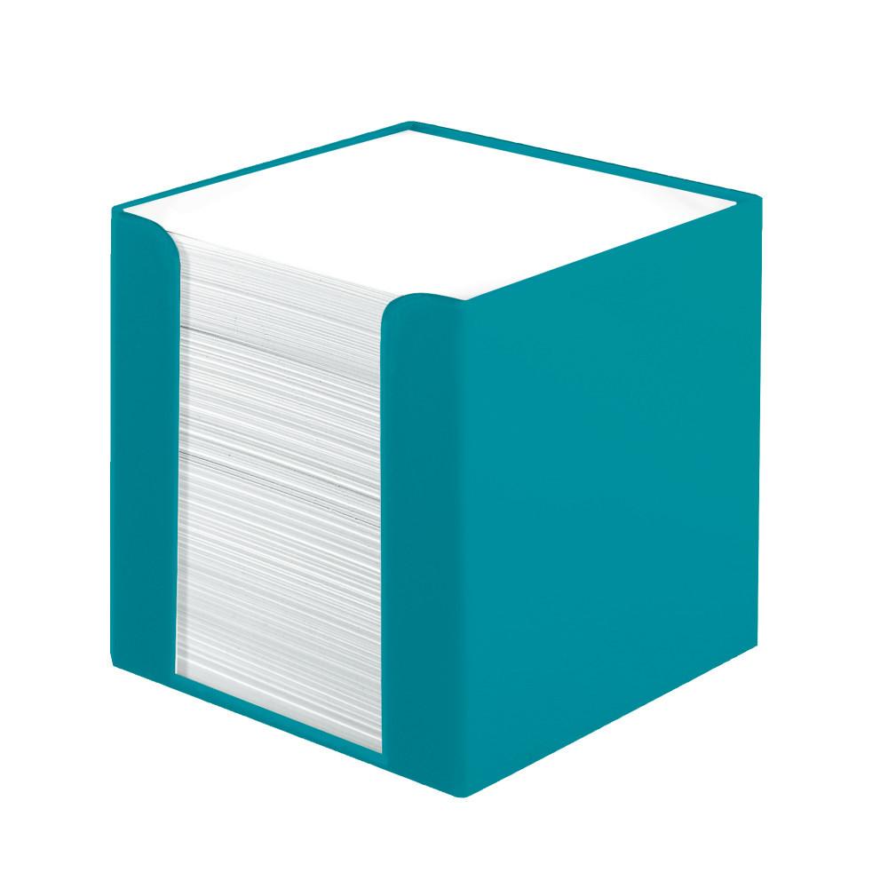 Папір для нотаток Herlitz 90х90мм 700 листів Colour Blocking Caribbean Turquoise бірюзовий бокс
