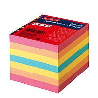 Бумага для заметок Herlitz цветная 90х90мм 550 листов 80г не склеенная