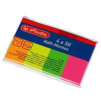 Стикеры-закладки бумажные Herlitz 20х50мм 4х50 листов 4 неоновых цвета