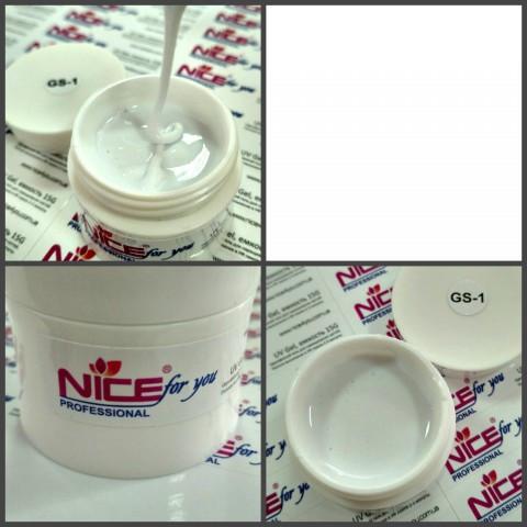 Гель Nice for you GS-1 белый, 30 г