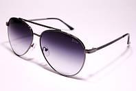 Солнцезащитные очки авиатор, стальные с градиентом, Dior