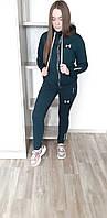 Спортивный костюм женский весенний осенний в стиле Under Armour Zipp Green