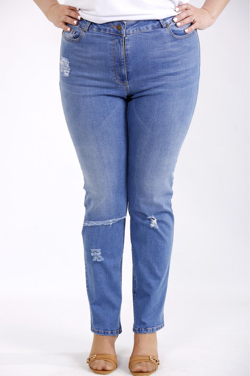 Сині джинси жіночі великого розміру 42-74. J-049