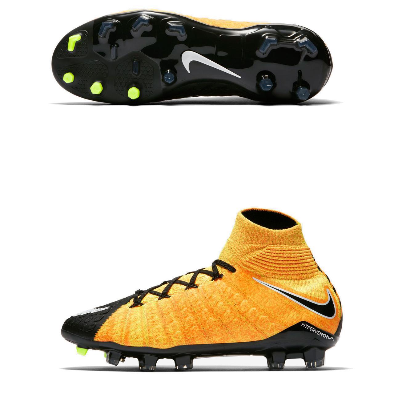 b7545412 Бутсы детские Nike JR Hypervenom Phantom 3 DF ACC FG 616 (882087-801 ...