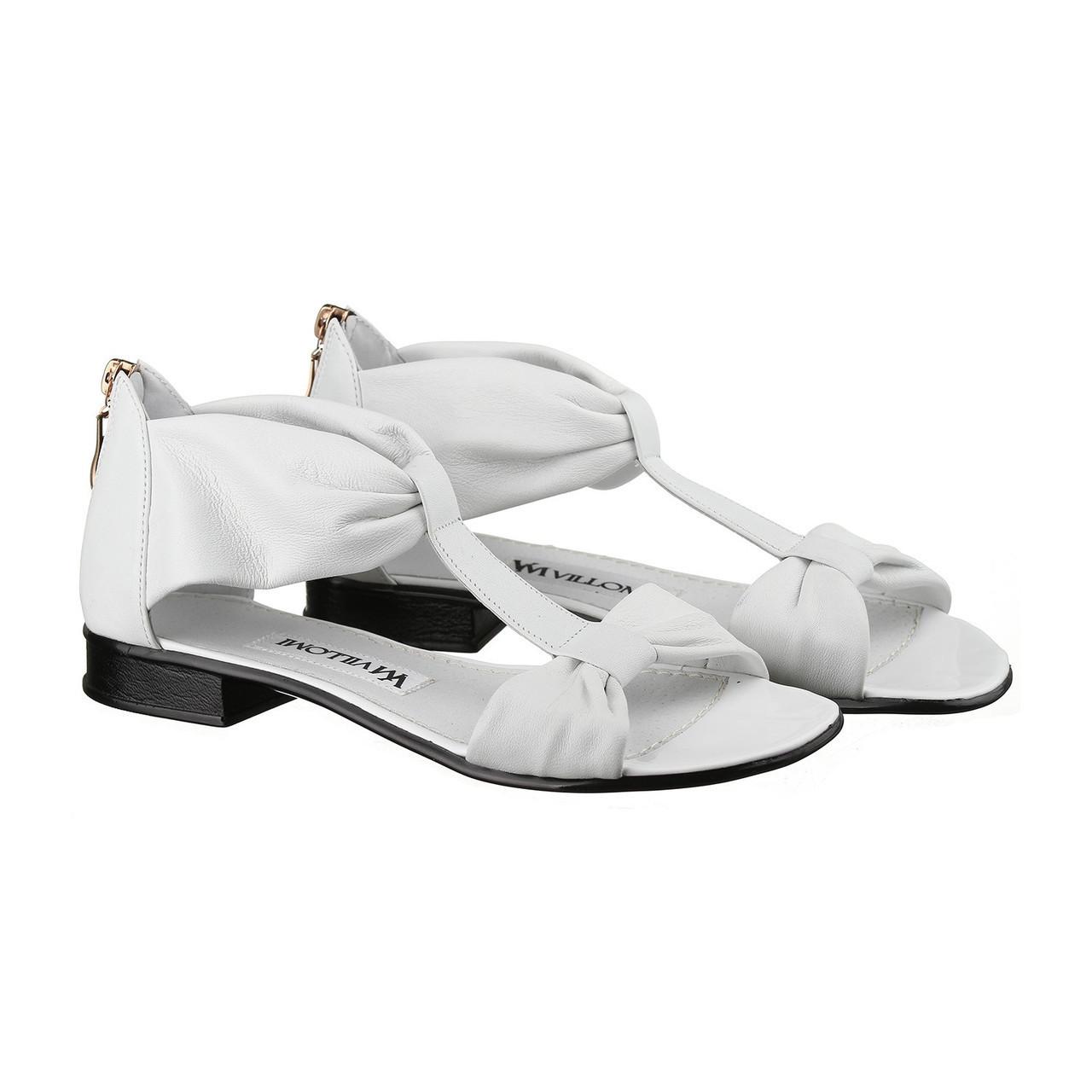 VM-Villomi Белые кожаные босоножки
