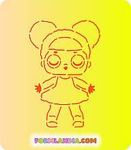 Трафарет + форма Кукла Лол №6