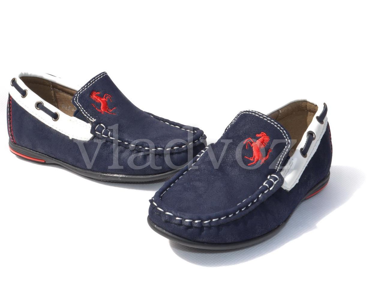 Детские мокасины туфли для мальчика Kellaifeng дизайн 27р.