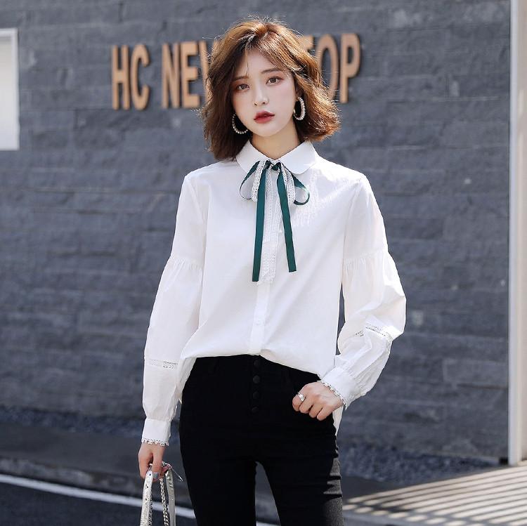 Женская хлопковая белая рубашка 44-48