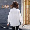 Женская хлопковая белая рубашка 44-48, фото 7