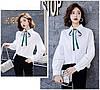 Женская хлопковая белая рубашка 44-48, фото 3