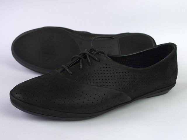 "Балетки летние кожаные черные женская обувь LaCoSe V Black Night Leather by Rosso Avangard ""Moonlight night"""