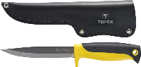 Нож универсальный, с кожанным чехлом 98Z103 Topex