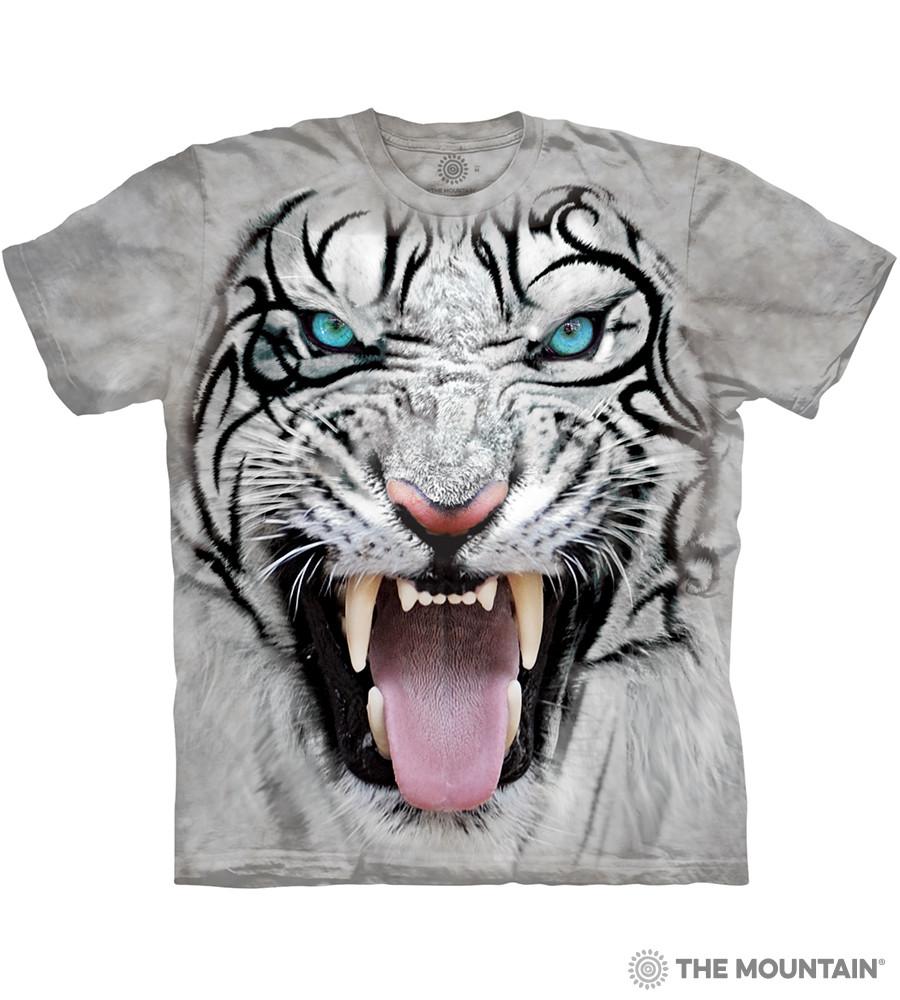 Футболка The Mountain - Big Face Tribal White Tiger